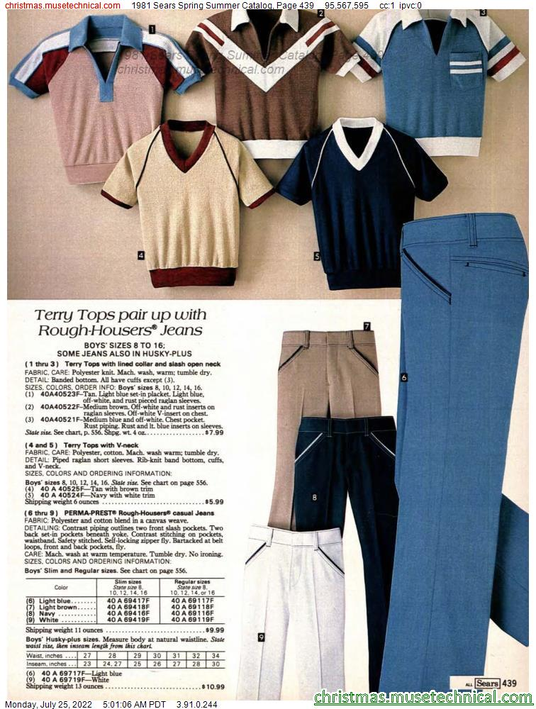 1981 Sears Spring Summer Catalog, Page 439