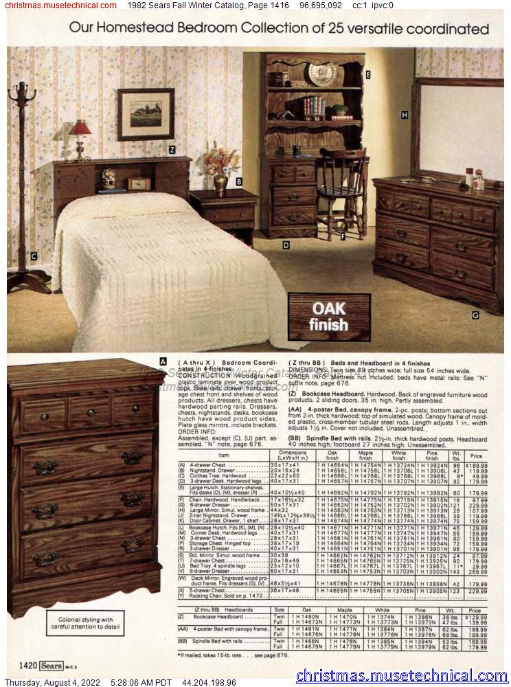 1982 Sears Fall Winter Catalog, Page 1416