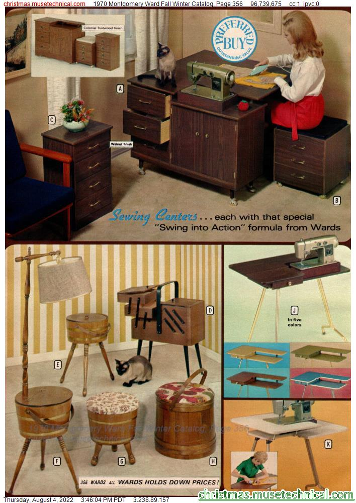 1970 Montgomery Ward Fall Winter Catalog, Page 356