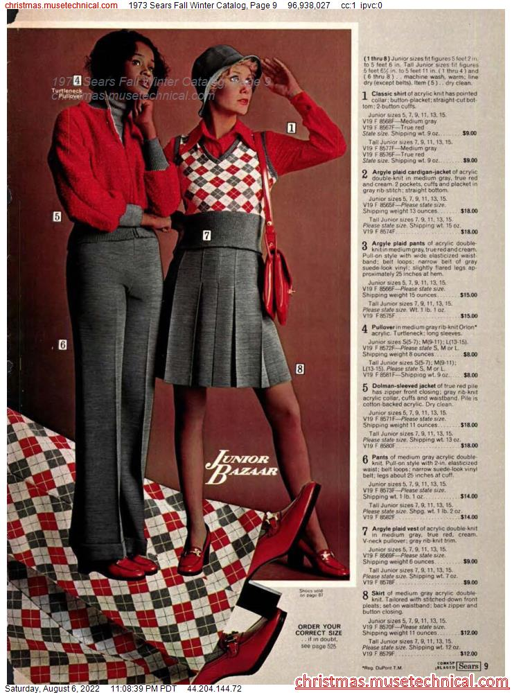 1973 Sears Fall Winter Catalog, Page 9