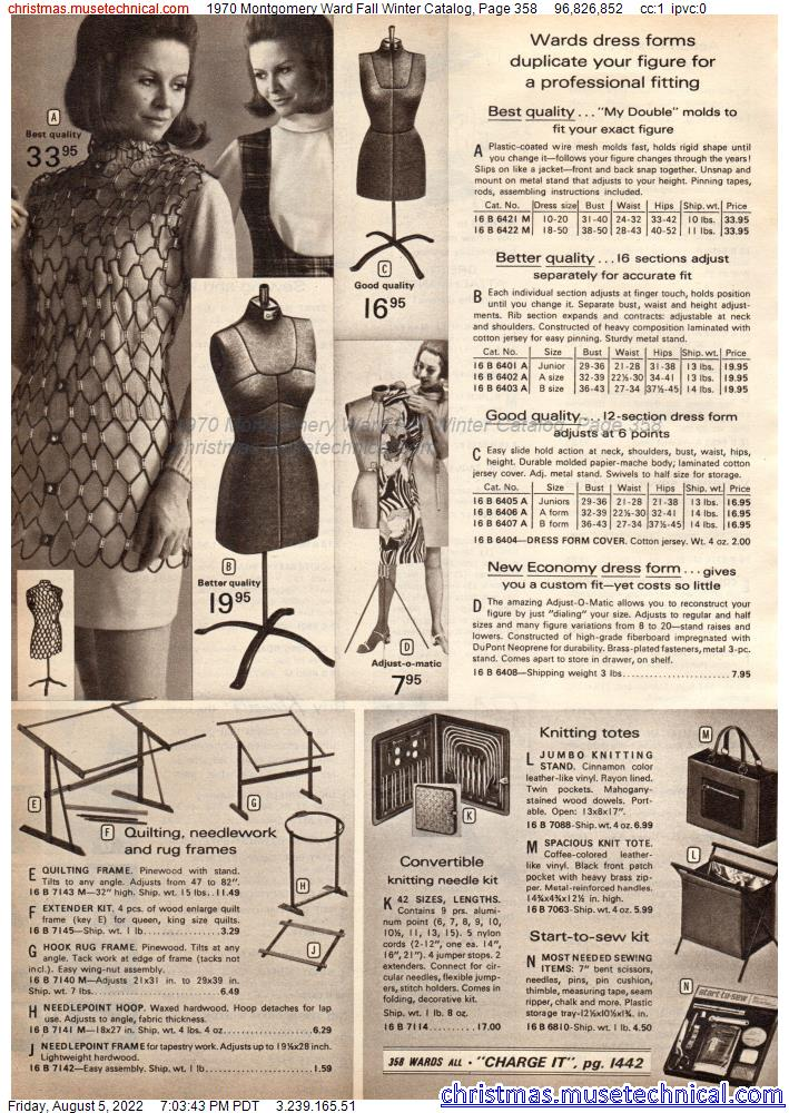 1970 Montgomery Ward Fall Winter Catalog, Page 358