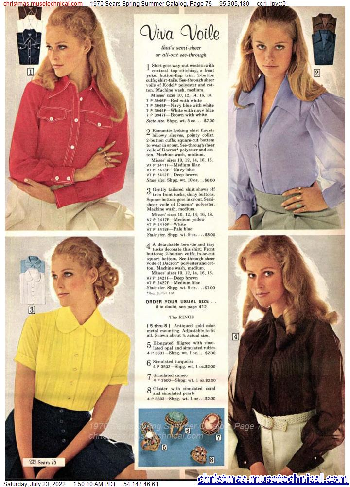 1970 Sears Spring Summer Catalog, Page 75