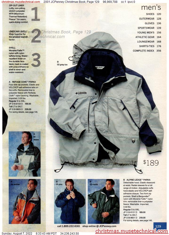 2001 JCPenney Christmas Book, Page 129
