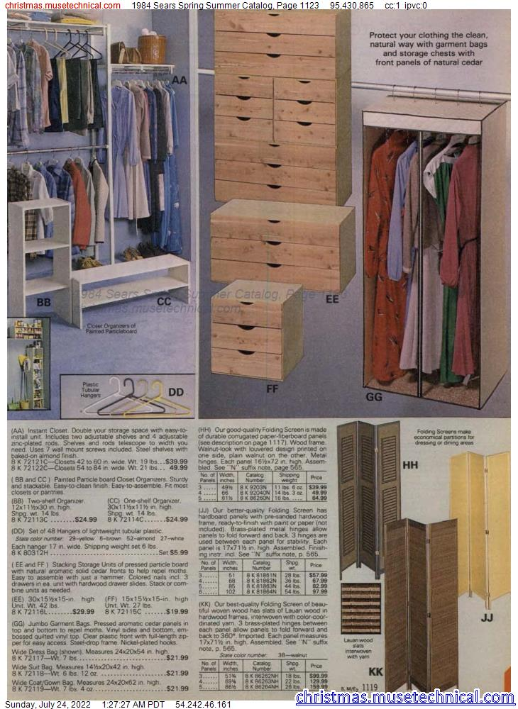 1984 Sears Spring Summer Catalog, Page 1123