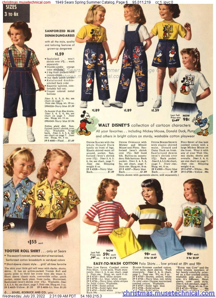 1949 Sears Spring Summer Catalog, Page 6