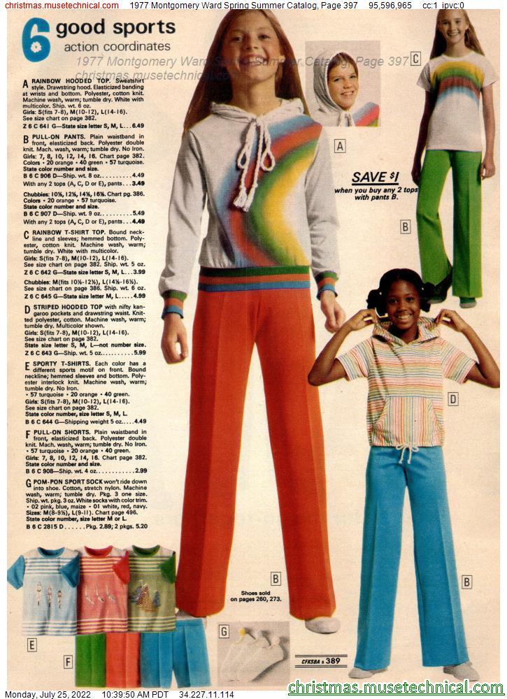 1977 Montgomery Ward Spring Summer Catalog, Page 397