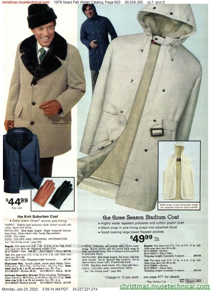 1976 Sears Fall Winter Catalog, Page 603