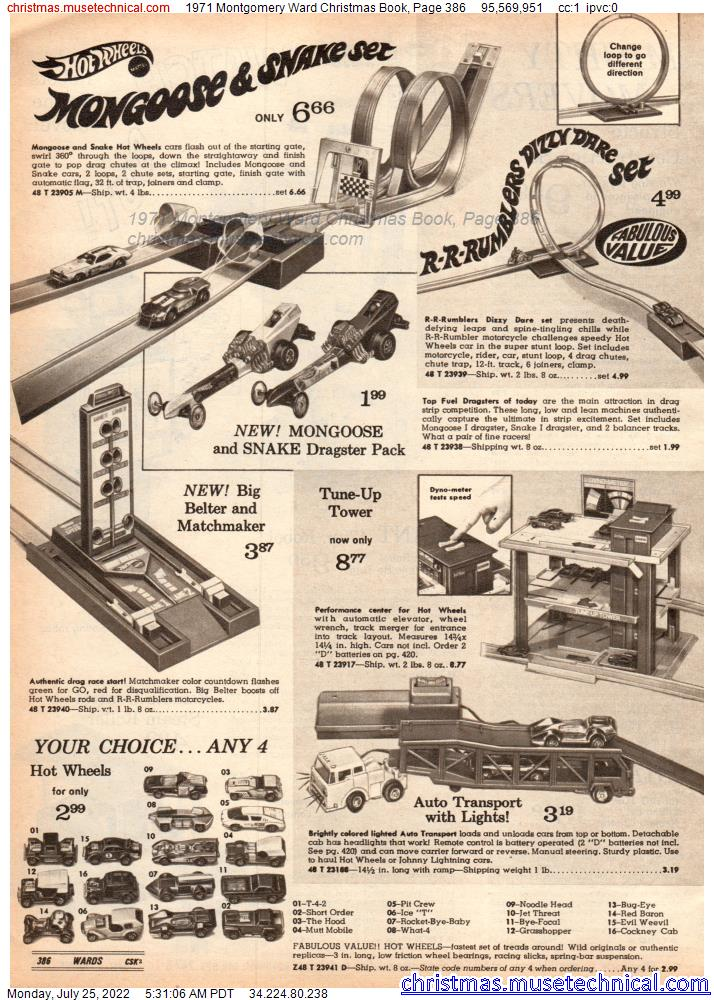 1971 Montgomery Ward Christmas Book, Page 386