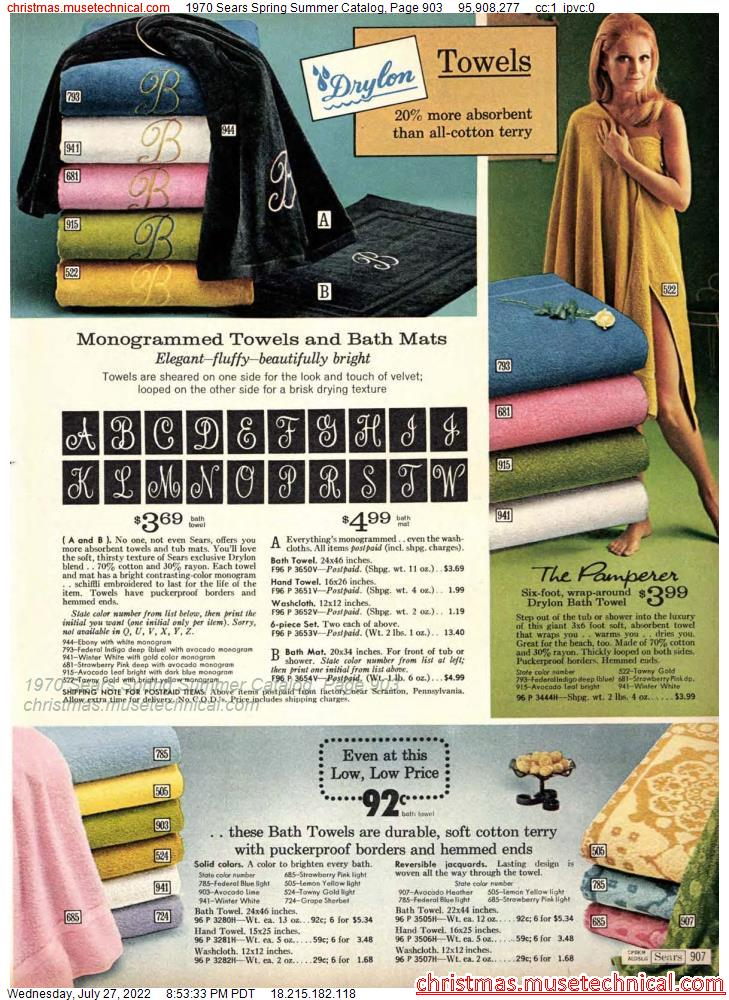 1970 Sears Spring Summer Catalog, Page 903