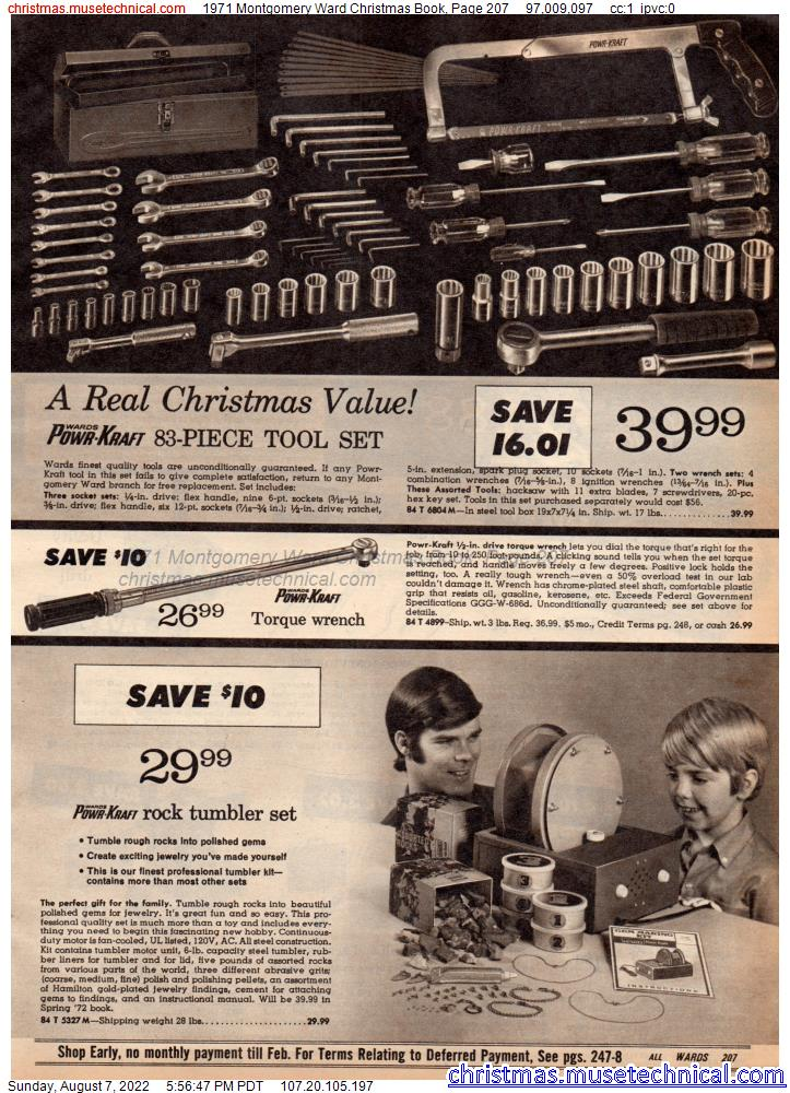 1971 Montgomery Ward Christmas Book, Page 207