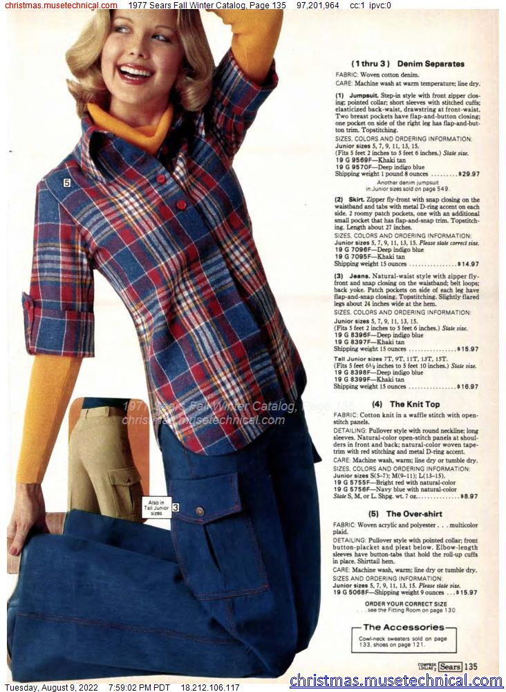 1977 Sears Fall Winter Catalog, Page 135