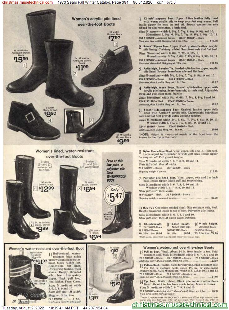 1973 Sears Fall Winter Catalog, Page 394