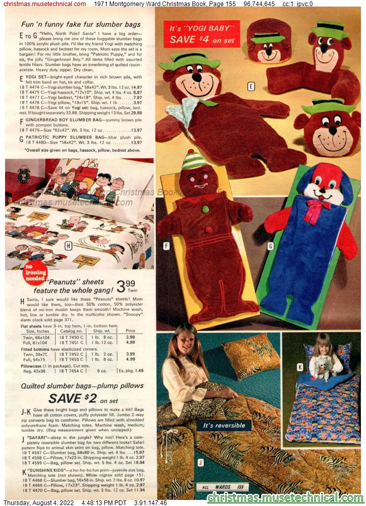 1971 Montgomery Ward Christmas Book, Page 155