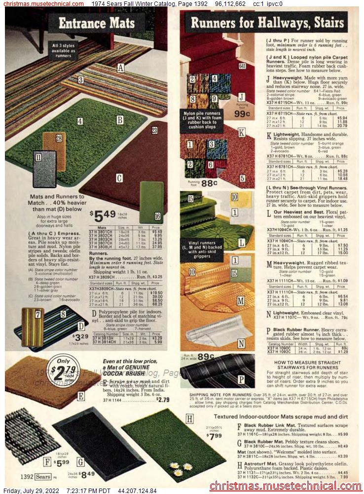 1974 Sears Fall Winter Catalog, Page 1392