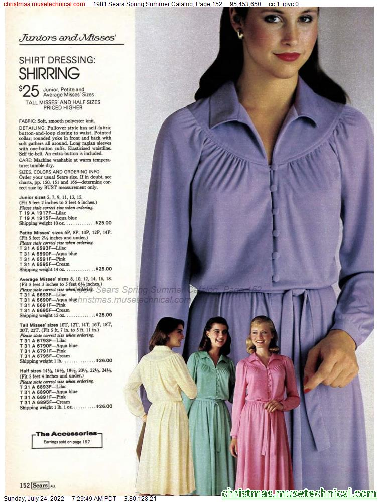 1981 Sears Spring Summer Catalog, Page 152