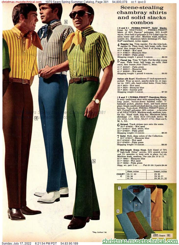 1970 Sears Spring Summer Catalog, Page 381