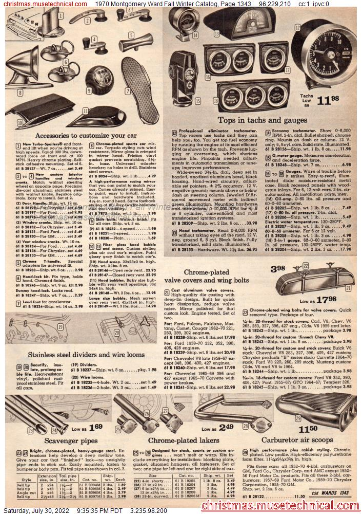 1970 Montgomery Ward Fall Winter Catalog, Page 1343