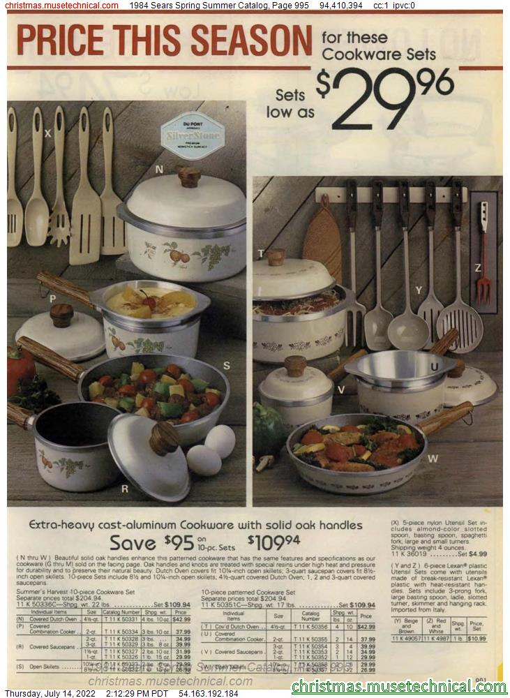 1984 Sears Spring Summer Catalog, Page 995