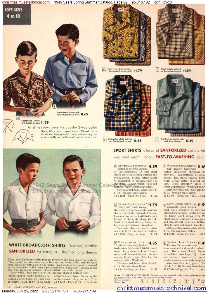 1949 Sears Spring Summer Catalog, Page 82
