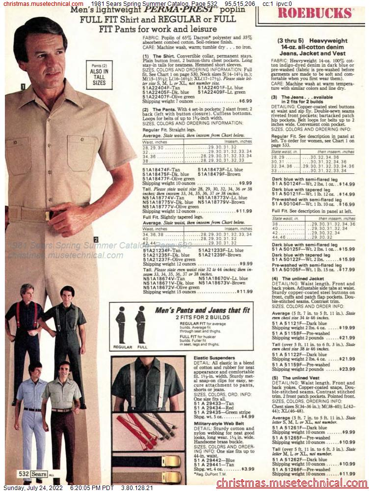 1981 Sears Spring Summer Catalog, Page 532