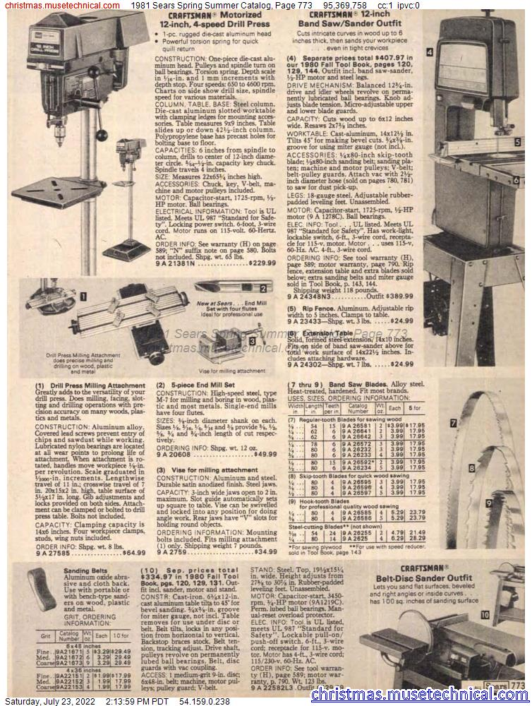 1981 Sears Spring Summer Catalog, Page 773