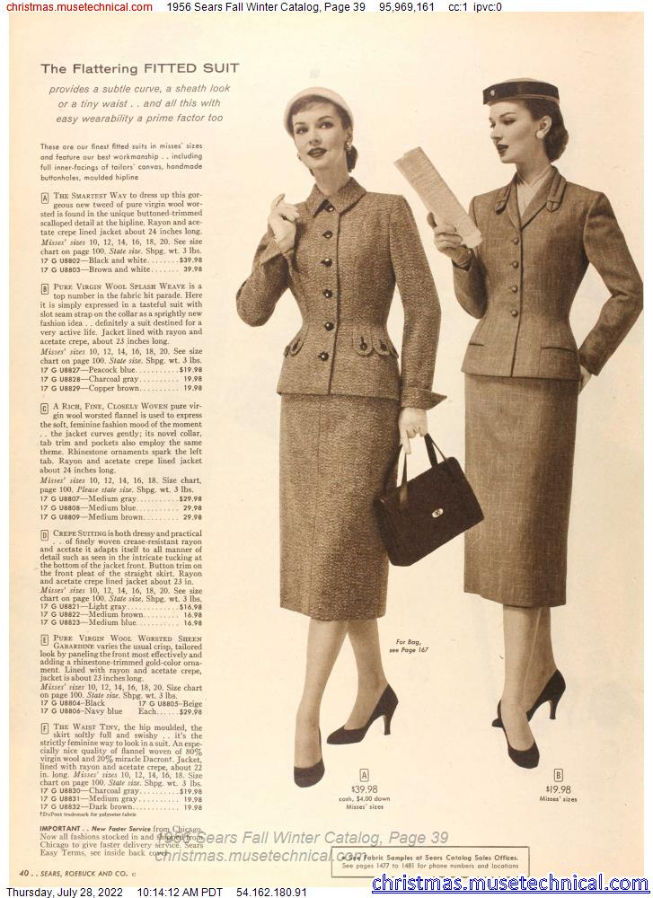1956 Sears Fall Winter Catalog, Page 39