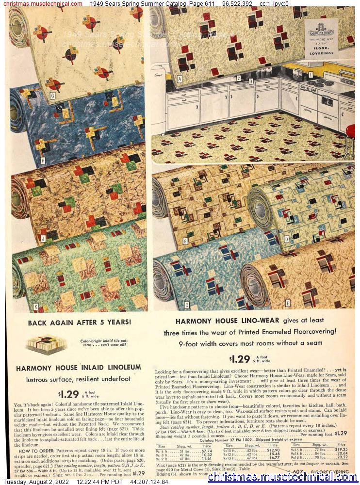 1949 Sears Spring Summer Catalog, Page 611