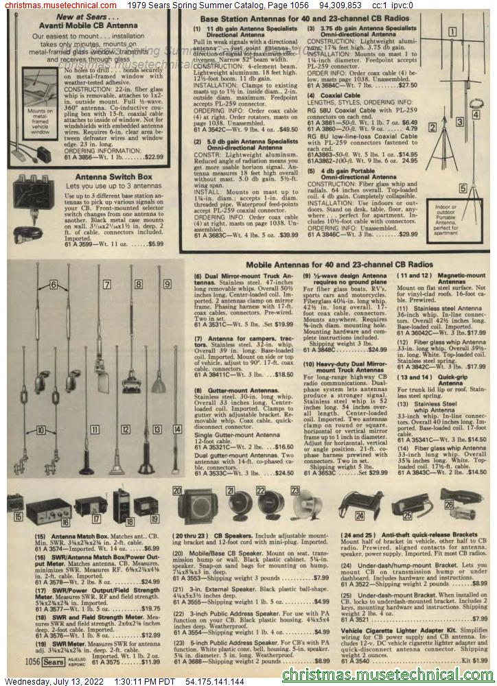 1979 Sears Spring Summer Catalog, Page 1056