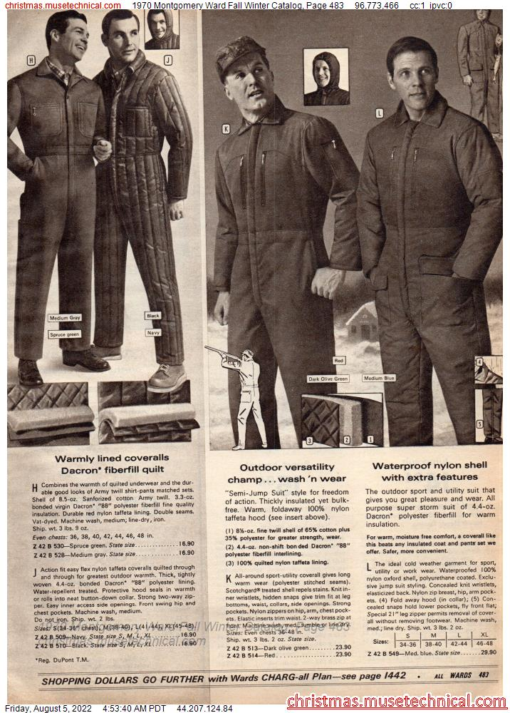 1970 Montgomery Ward Fall Winter Catalog, Page 483