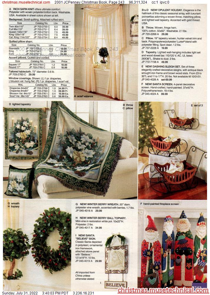 2001 JCPenney Christmas Book, Page 243