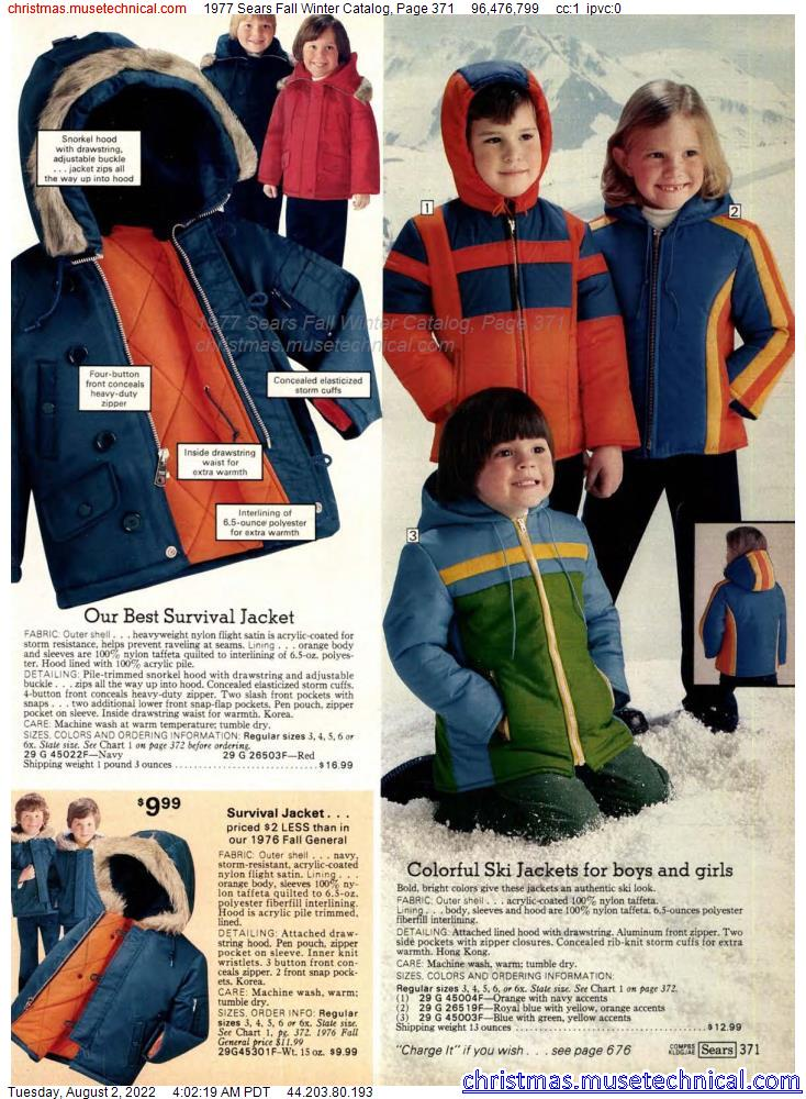 1977 Sears Fall Winter Catalog, Page 371
