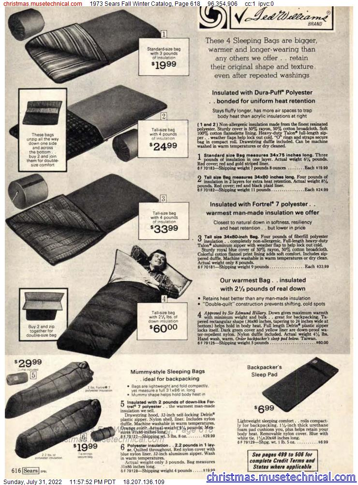 1973 Sears Fall Winter Catalog, Page 618