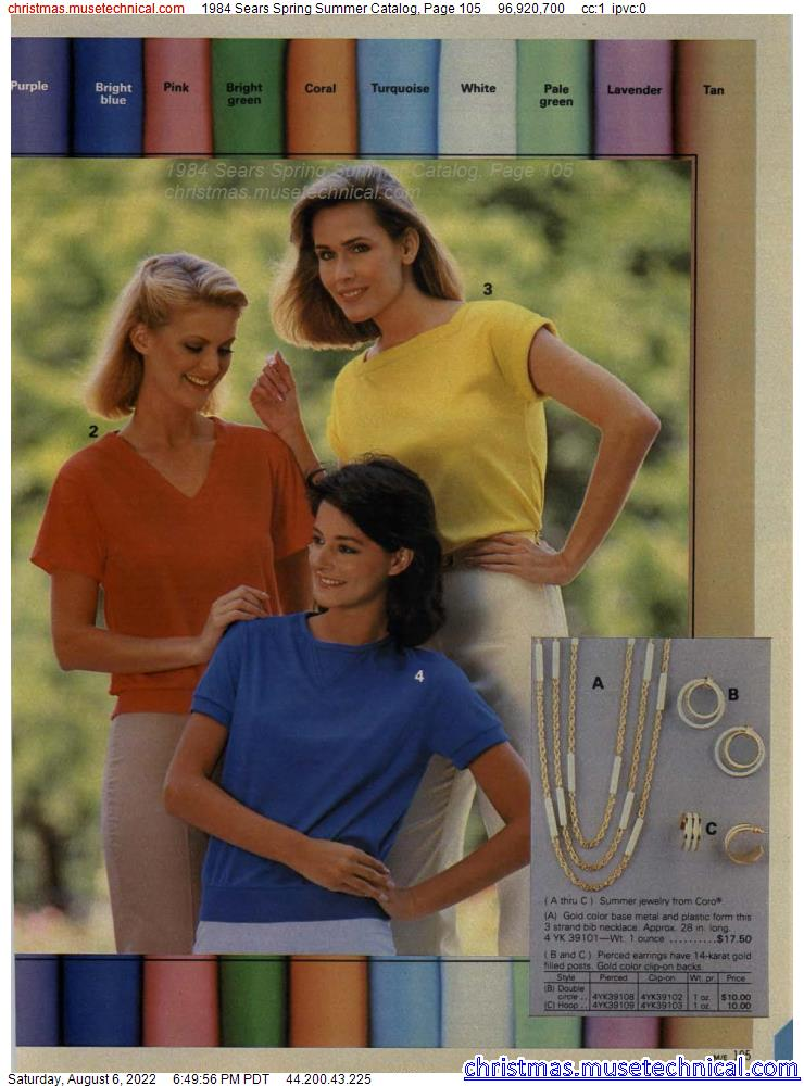 1984 Sears Spring Summer Catalog, Page 105