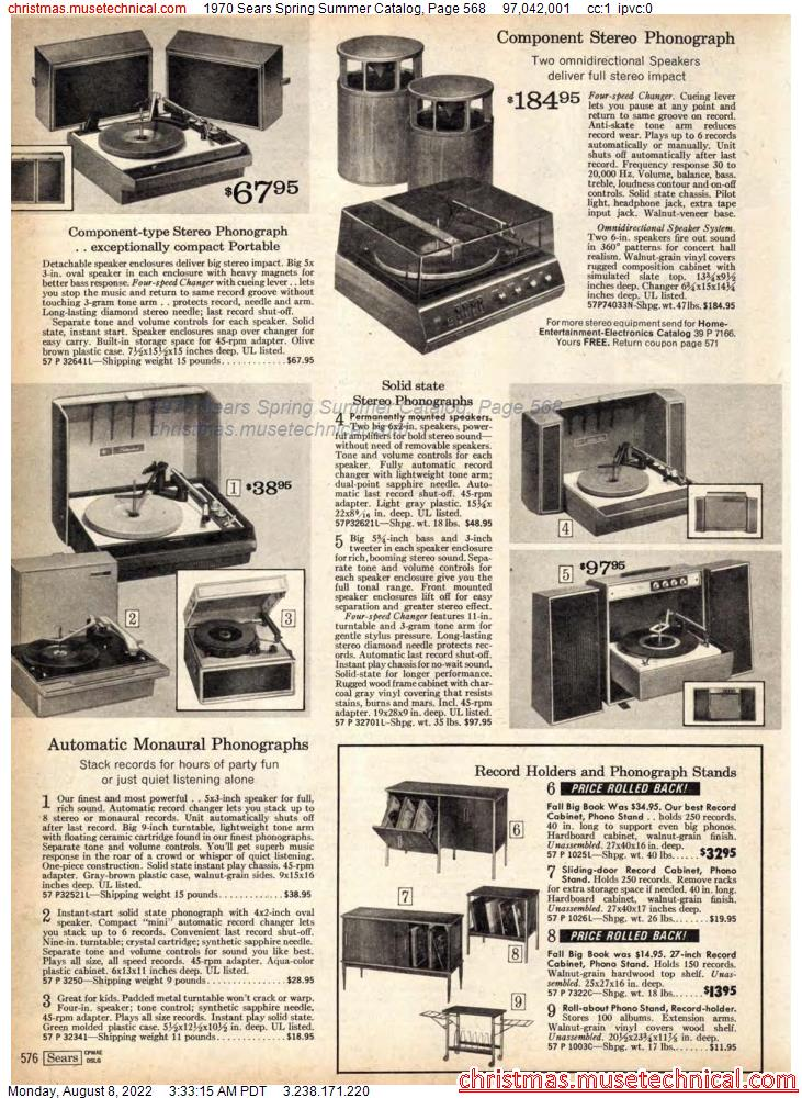 1970 Sears Spring Summer Catalog, Page 568