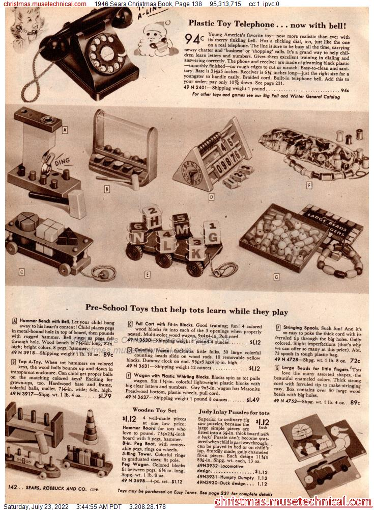 1946 Sears Christmas Book, Page 138