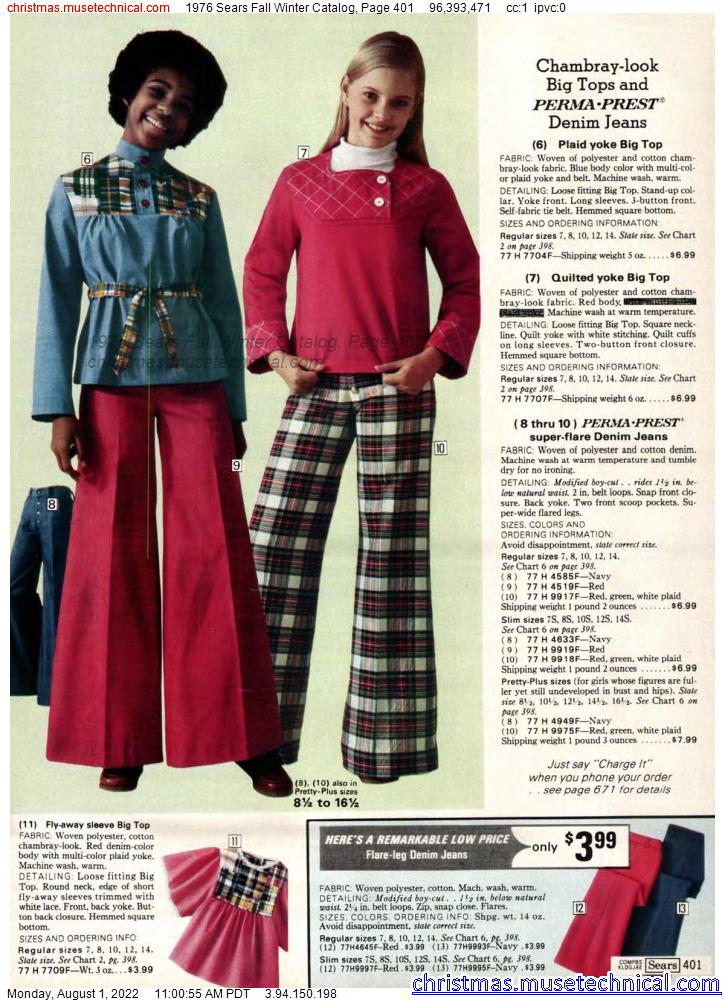 1976 Sears Fall Winter Catalog, Page 401