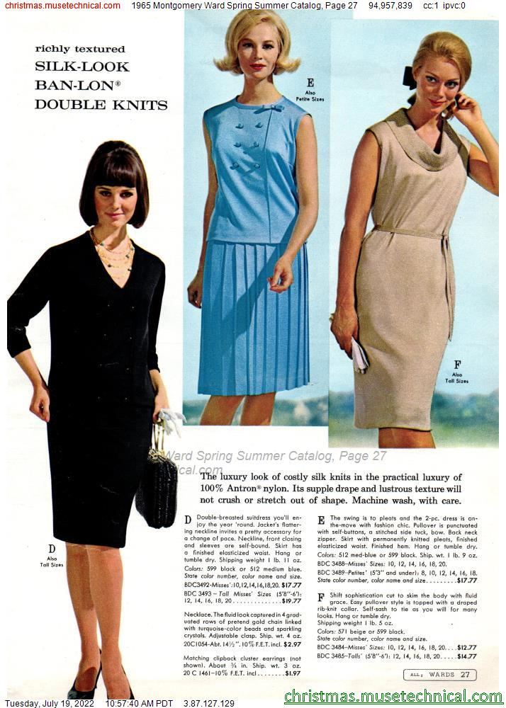 1965 Montgomery Ward Spring Summer Catalog, Page 27