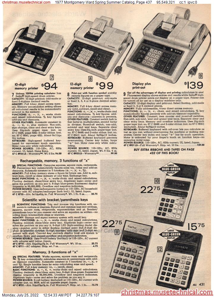 1977 Montgomery Ward Spring Summer Catalog, Page 437