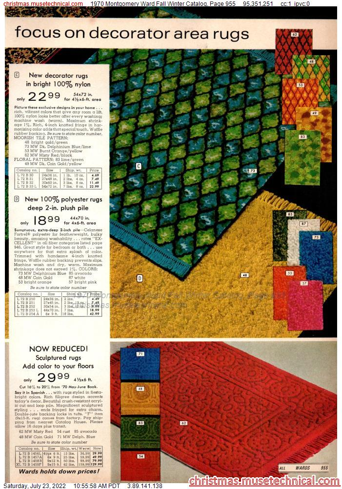 1970 Montgomery Ward Fall Winter Catalog, Page 955