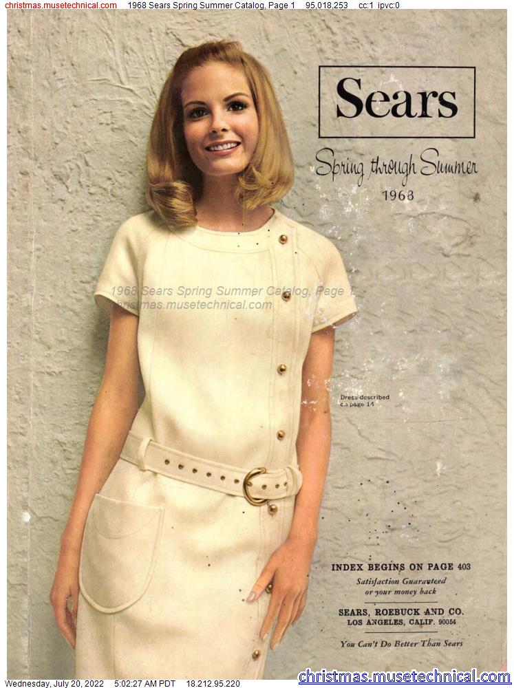 1968 Sears Spring Summer Catalog, Page 1