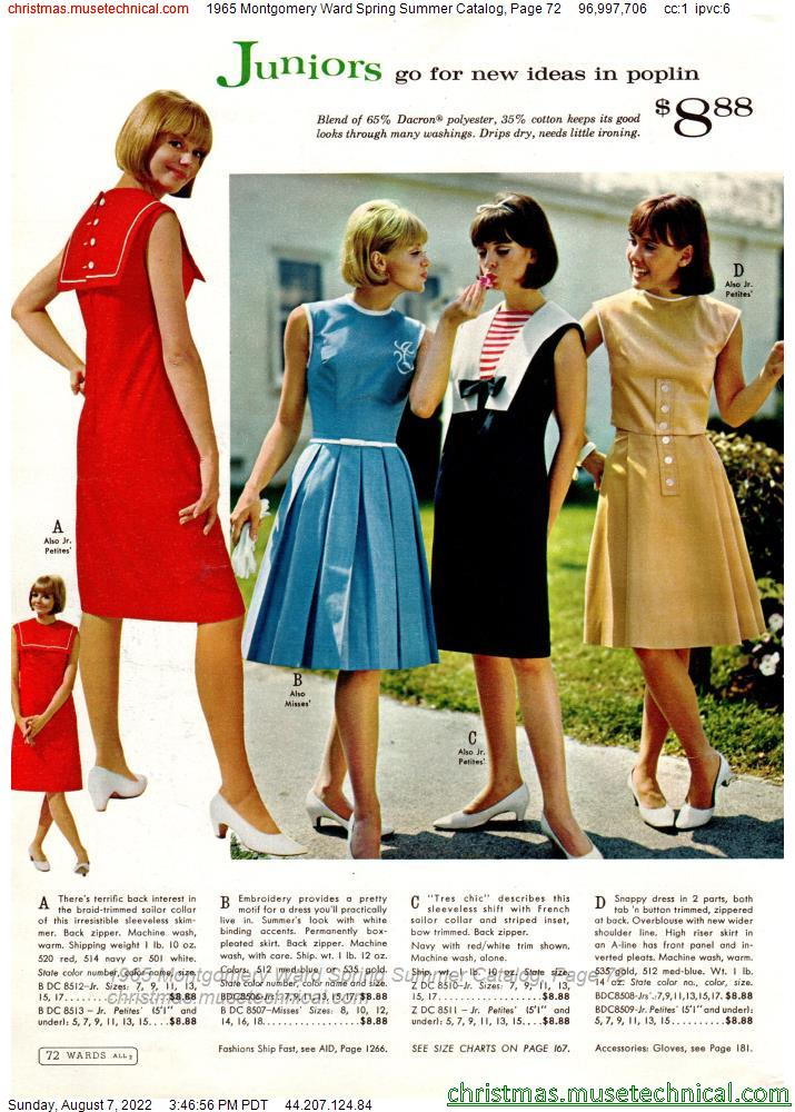 1965 Montgomery Ward Spring Summer Catalog, Page 72