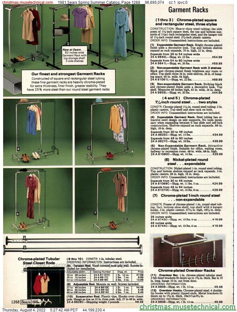 1981 Sears Spring Summer Catalog, Page 1268