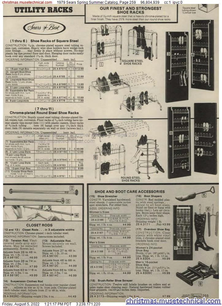 1979 Sears Spring Summer Catalog, Page 259