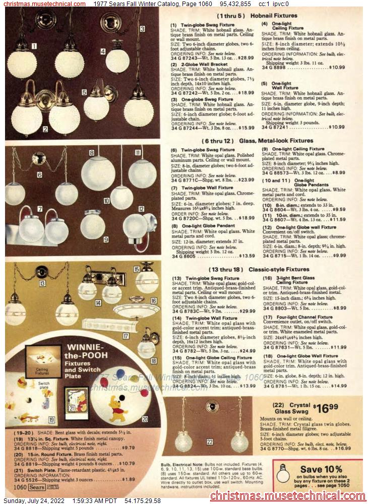 1977 Sears Fall Winter Catalog, Page 1060