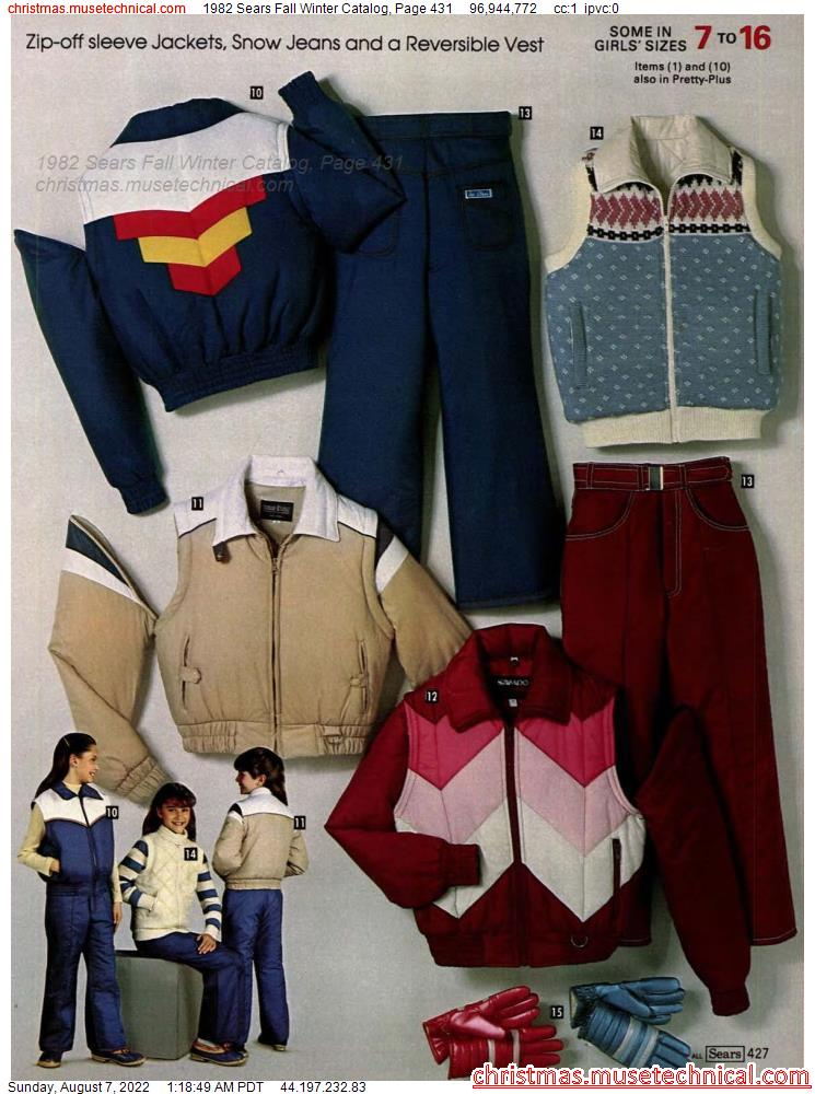 1982 Sears Fall Winter Catalog, Page 431