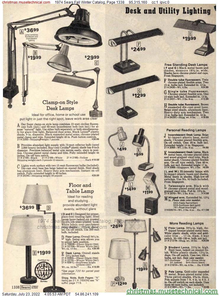 1974 Sears Fall Winter Catalog, Page 1338