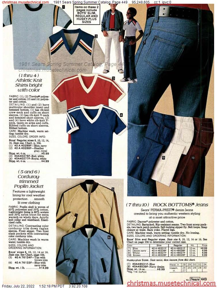 1981 Sears Spring Summer Catalog, Page 449