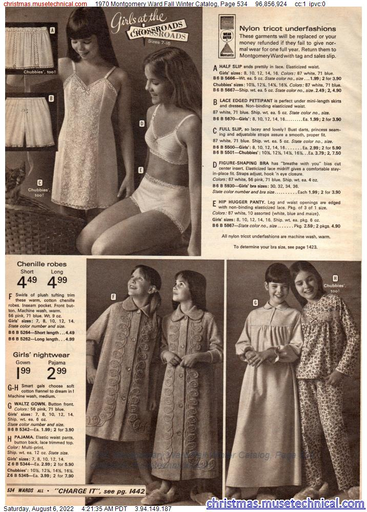 1970 Montgomery Ward Fall Winter Catalog, Page 534