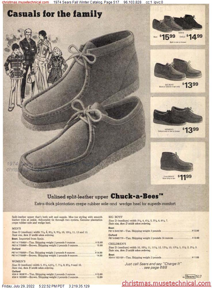 1974 Sears Fall Winter Catalog, Page 517