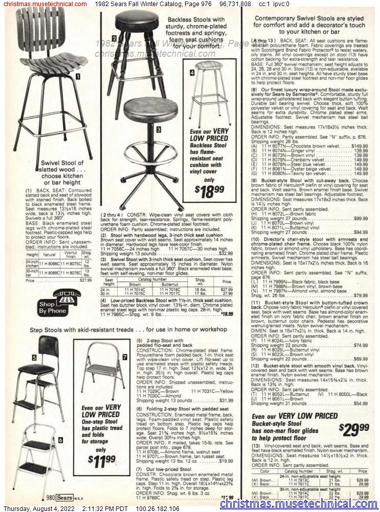 1982 Sears Fall Winter Catalog, Page 976